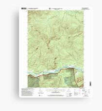 Maine USGS Historical Map Gilead 105159 1995 24000 Canvas Print