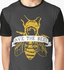 Camiseta gráfica ¡Salva a las abejas! (Oscuro)