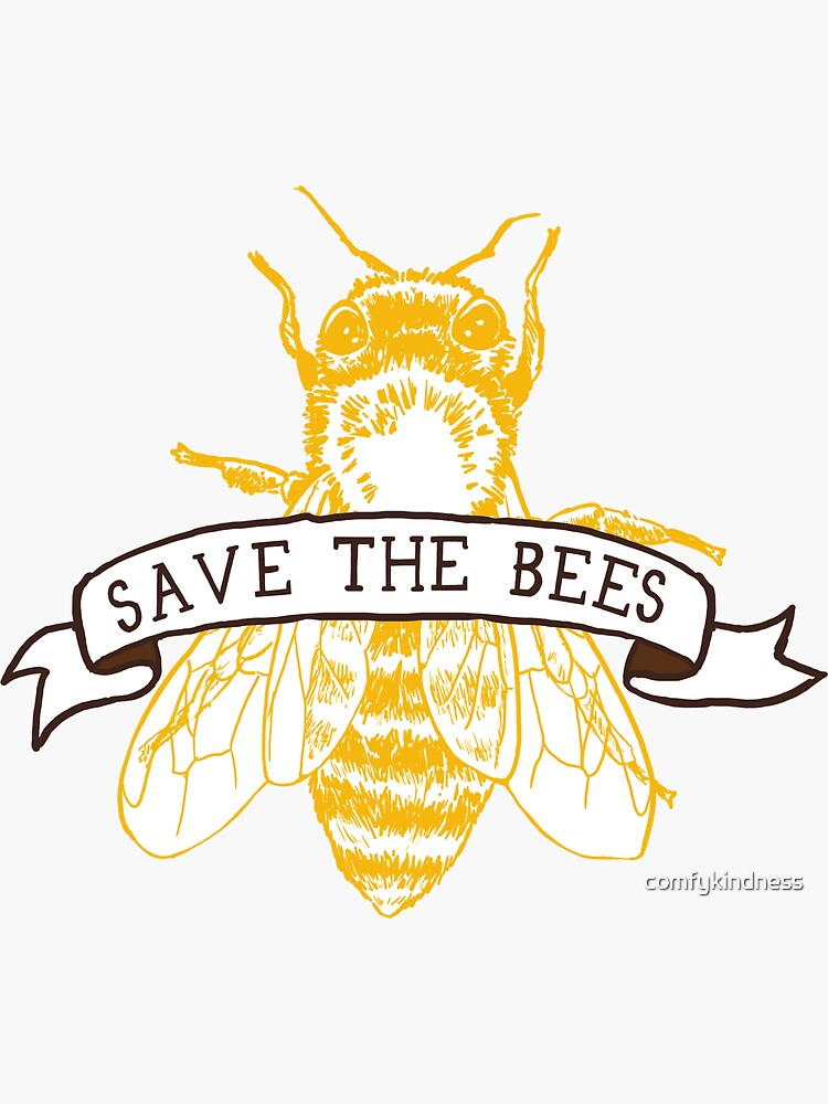 Save The Bees! (Dark) by comfykindness