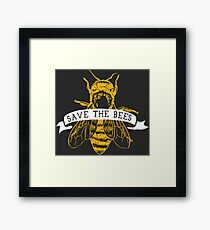 Save The Bees! (Dark) Framed Print