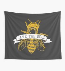 Save The Bees! (Dark) Wall Tapestry