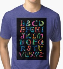 surreal alphabet black Tri-blend T-Shirt