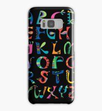 surreal alphabet black Samsung Galaxy Case/Skin