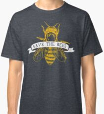 Save The Bees! (Dark) Classic T-Shirt