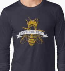 Save The Bees! (Dark) Long Sleeve T-Shirt