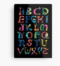 surreal alphabet black Metal Print