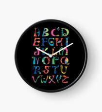 surreal alphabet black Clock