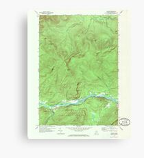 Maine USGS Historical Map Gilead 806718 1970 24000 Canvas Print