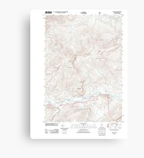 Maine USGS Historical Map Gilead 20120118 TM Canvas Print
