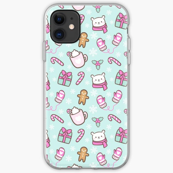 Cute Christmas // Green iPhone Soft Case