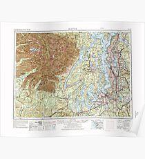 USGS Topo Map Washington State WA Seattle 243646 1958 250000 Poster