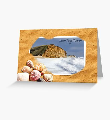 West Bay, Dorset - (Sand & Shells) Greeting Card