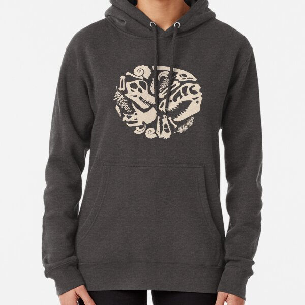 Fossil Pattern Pullover Hoodie
