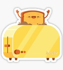 Burning Toast Sticker