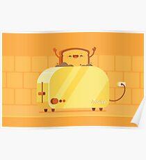 Brennender Toast Poster