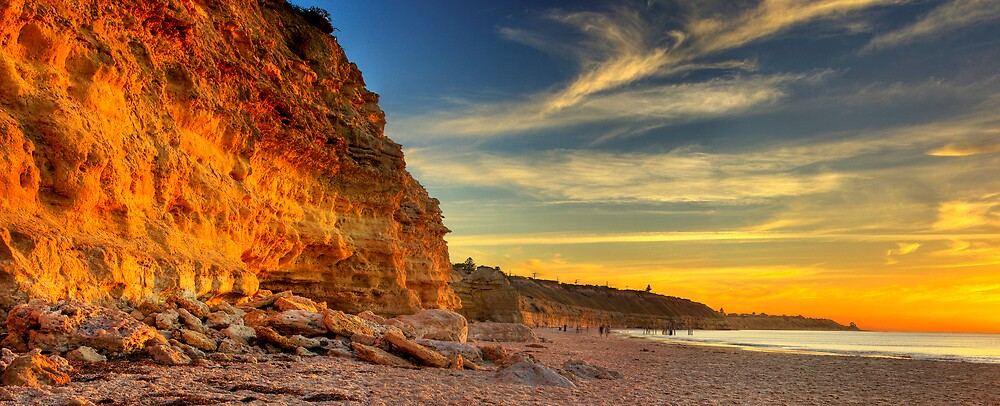 Port Willunga Cliffs by Peter Barnes