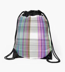 Textile Tartan Pattern Drawstring Bag