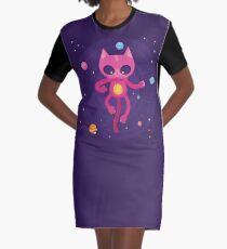 God is a Cat Graphic T-Shirt Dress