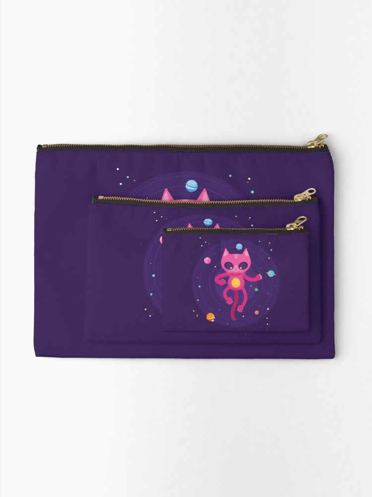 Alternate view of God is a Cat Zipper Pouch