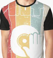 Retro Vinyl Record Turntable Graphic T-Shirt