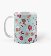 Christmas Pattern - Gingerbread and Candy Canes Mug