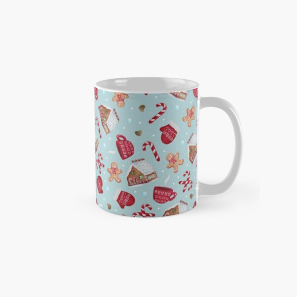 Christmas Pattern - Gingerbread and Candy Canes Classic Mug