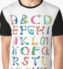 surreal alphabet white Graphic T-Shirt