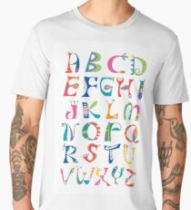 surreal alphabet white Men's Premium T-Shirt