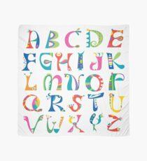 surreal alphabet white Scarf