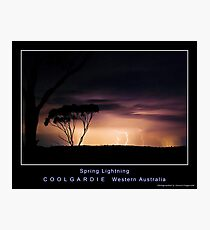 Spring Lightning Photographic Print