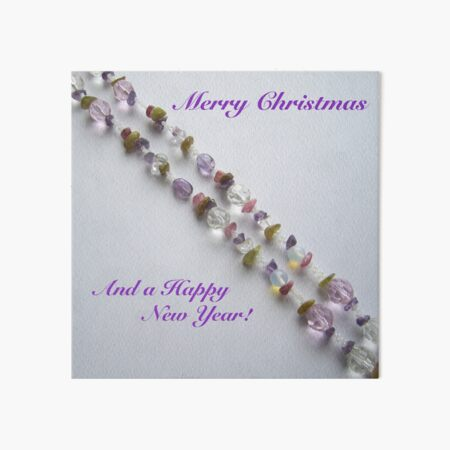 Merry Christmas and a Happy New Year. Beaded design Art Board Print