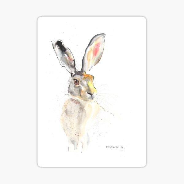 Listening Hare Sticker
