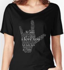 Love In Every Language American Sign Language  Women's Relaxed Fit T-Shirt