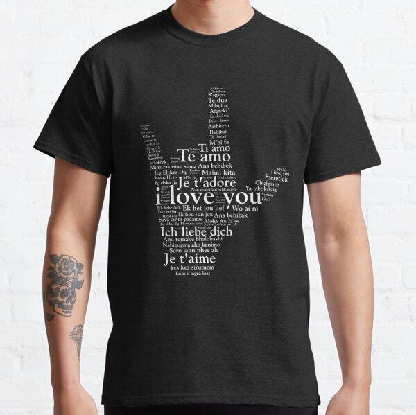 Amor en todos los idiomas Lenguaje de señas americano Camiseta clásica