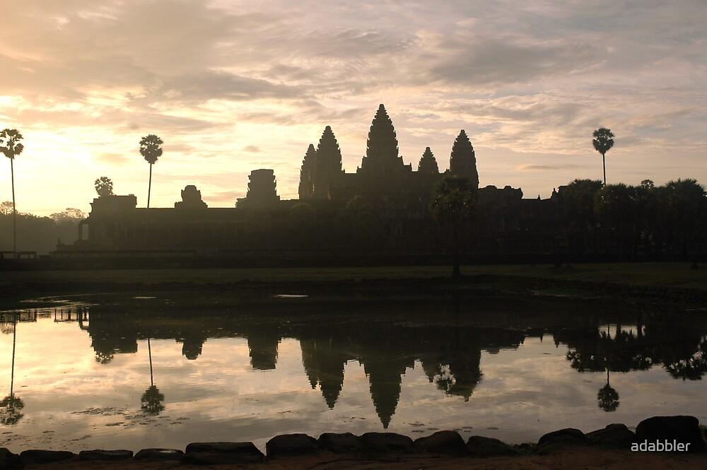 Sunrise over Angkor (2) by Trevor Needham