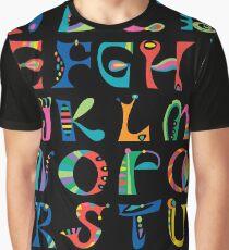 surreal alphabet black Graphic T-Shirt