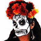 Dia de Los Muertos Face Paint by Heather Friedman