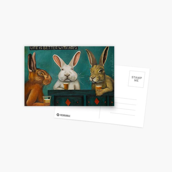 Bar Hopping Postcard