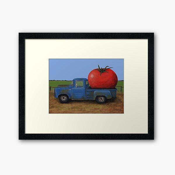 Tomato Truck Framed Art Print