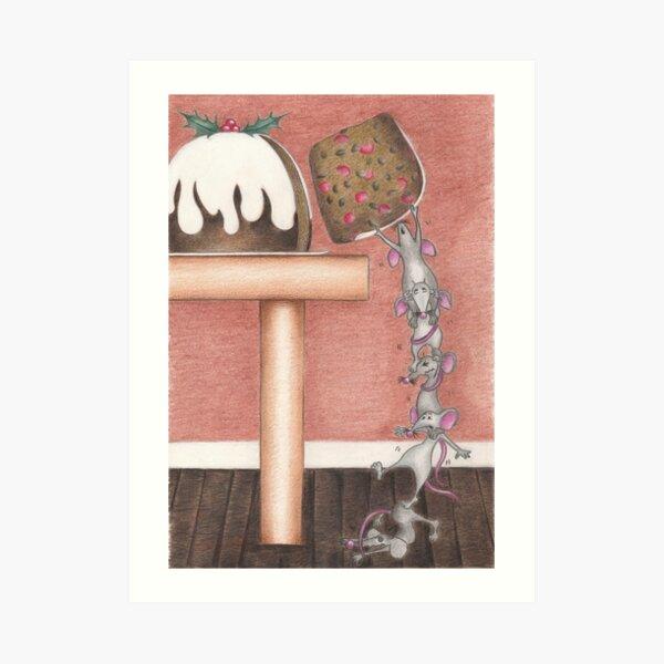 Christmouse Pudding Art Print