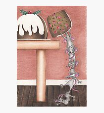 Christmouse Pudding Photographic Print