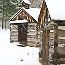 Snow Covered Cabins by thatstickerguy