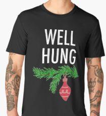 Crazy Bros Tees Well hung shirt funny Christmas party t-shirt humor Men's Premium T-Shirt