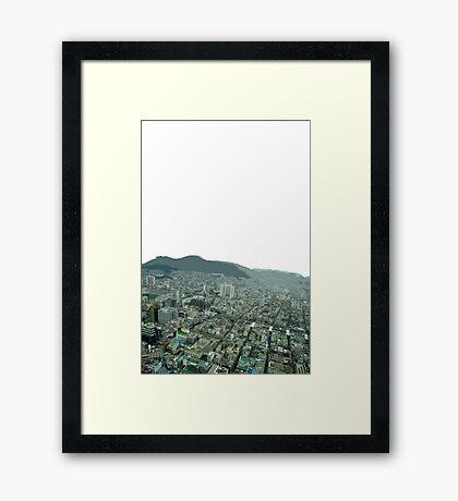 Busan view Framed Print