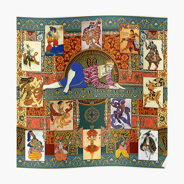 Ballets Russe Tapestry Poster