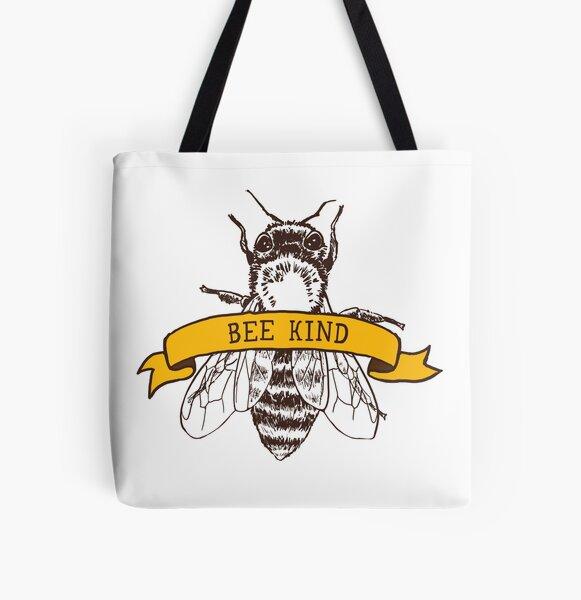 Bee Kind All Over Print Tote Bag