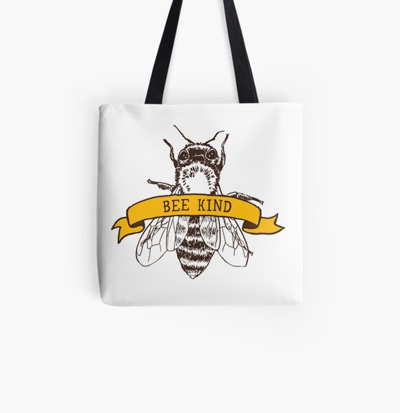 Bee Kind All Over Print Tote Bag