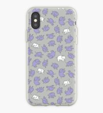 Elephants - cute baby pattern by Cecca Designs iPhone Case