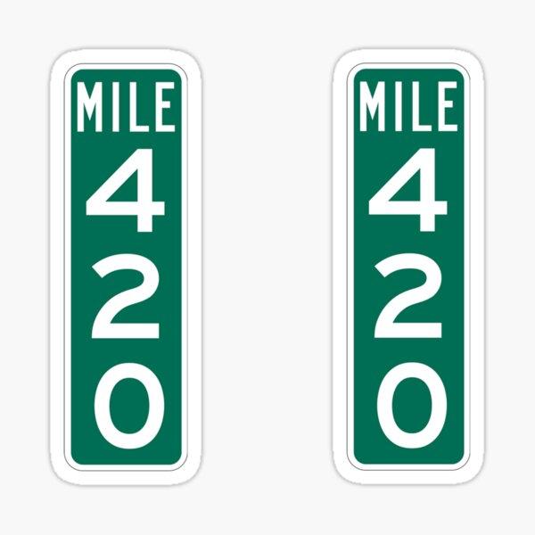 Marqueur de 420 milles Sticker