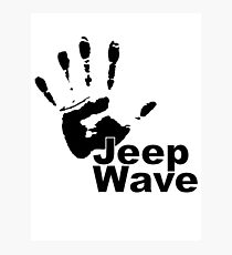 Jeep Wave black color design Photographic Print